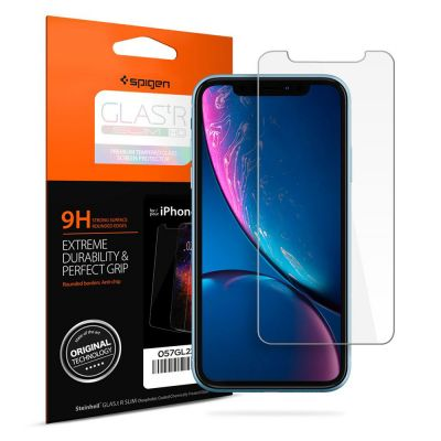 ฟิล์มกระจก SPIGEN iPhone 11 / XR Tempered Glass : Glas.tR Slim HD
