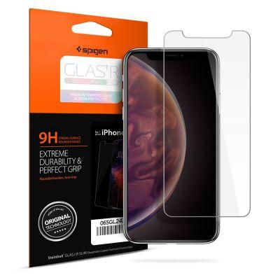 ฟิล์มกระจก SPIGEN iPhone 11 Pro Max / XS Max Tempered Glass : Glas.tR Slim HD