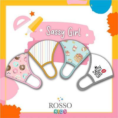 หน้ากากผ้าสะท้อนน้ำ สำหรับเด็กผู้หญิง ROSSO Water Repellency Kids Mask (Size S)