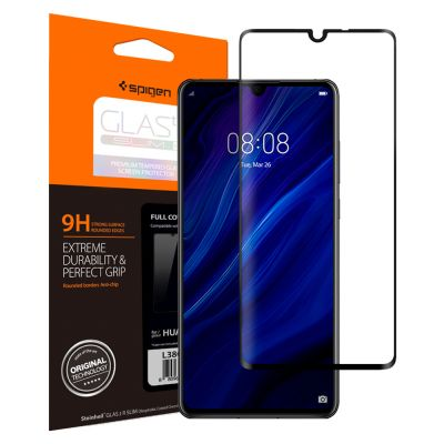 ฟิล์มกระจก SPIGEN Huawei P30 Tempered Glass Full Cover HD