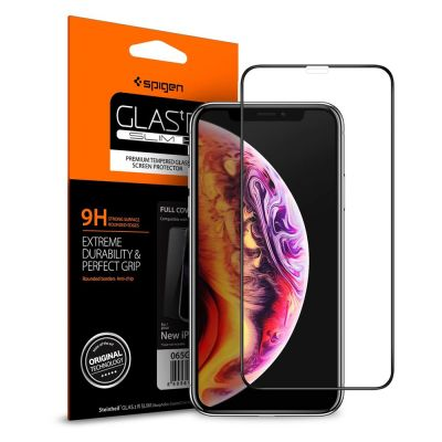 ฟิล์มกระจก SPIGEN iPhone 11 Pro Max/XS Max Tempered Glass Full Cover HD