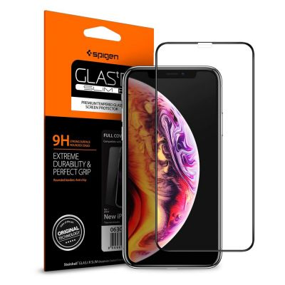 ฟิล์มกระจก SPIGEN iPhone 11 Pro/XS/X Tempered Glass Full Cover HD