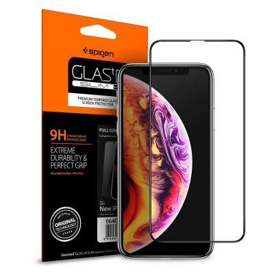 ฟิล์มกระจก SPIGEN iPhone 11/XR Tempered Glass Full Cover HD