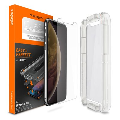 ฟิล์มกระจก SPIGEN iPhone 11 / XR Tempered Glass : Glas.tR EZ Fit