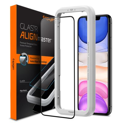 ฟิล์มกระจก SPIGEN iPhone 11/XR Tempered Glass Align Master FC