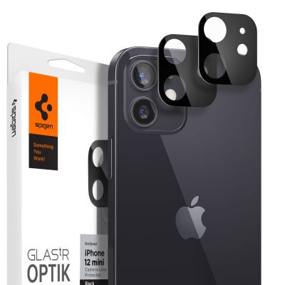 ฟิล์ม SPIGEN iPhone 12 Mini Tempered Glass : Glas.tR Optik (Lens)