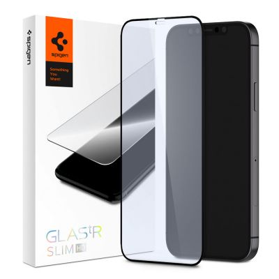 ฟิล์ม SPIGEN iPhone 12 Pro / 12 Tempered Glass Full Cover HD